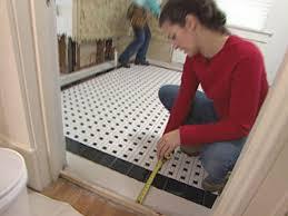 Tiling A Bathroom Floor Around A Toilet by How To Install A Mosaic Tile Floor How Tos Diy