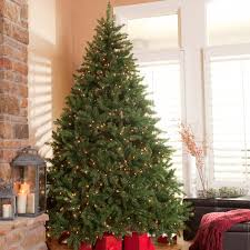 Classic Pine Full Pre Lit Christmas Tree Walmart Intended For Artificial Trees On Sale Clearance
