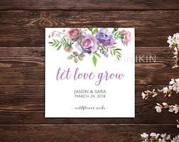 Let Love Grow Seed Packets Seed Packet Wedding Favors