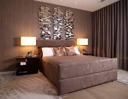 Contemporary Bedroom With Elegant Wall Decor Design