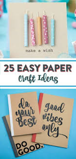 25 Easy Paper Craft Ideas