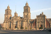 Mexico City Metropolitan Cathedral Of The Viceroyalty New Spain
