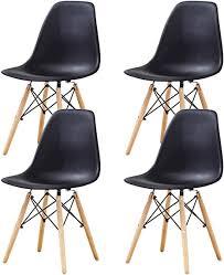 esszimmerstühle 4er set tulpe esszimmer retro design stühle 4er set mit holzbeinen und sitzkissen eiffelturmstuhl für esszimmer wohnzimmer oder