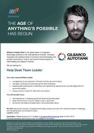 Gilbarco Veeder Root Help Desk by Cv Keskus Tööpakkumine Help Desk Team Leader