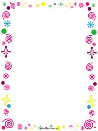 This Free Printable Border Is Decorated With Pink Curlicues And Colorful Confetti Its Great