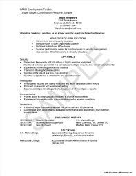 Sample Resume For Security Guard Philippines No Experience