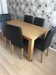 Dining Table And 6 Black Chairs