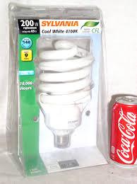 sylvania 200w cfl 200 w watt 4100k cool white light bulb ebay