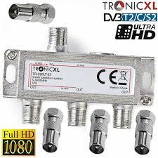 tronicxl 3fach bk verteiler set premium tv kabel antennenverteiler kabelfernsehen dvbc zb für unitymedia splitter