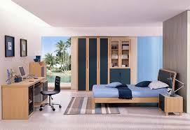 BedroomModern Blue Bedroom With Tv Wall Design Cool Light Accent In Teenagers