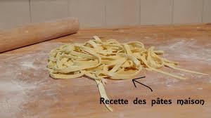 recette pour faire vos pâtes maison