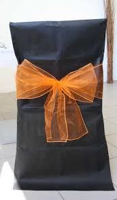 ruban pour noeud de chaise noeuds en organza pour housses de chaises x10 déco housse de