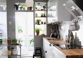 cuisine ikea blanche et bois decoration cuisine ikea