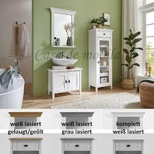badezimmermöbel set kiefer massiv weiß lasiert