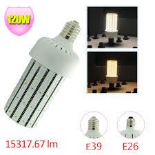 480v led corn bulb 120watt replace 400w parking lot shoe box pole