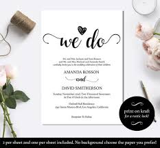 Black And White We Do Wedding Invitation Template