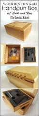 Free Wooden Gun Cabinet Plans by Diy Gun Box With Wooden Hinge Free Plans The Sawdust Maker