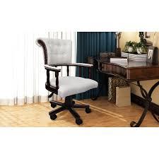 chaise de bureau chesterfield fauteuil de bureau en cuir chesterfield blanc achat vente chaise