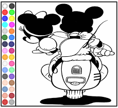 Play Coloring Pages Of Mickey And Minnie Mouse Motorcycle