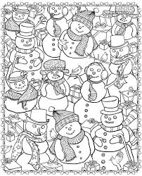 Adult Christmas Snowman Coloring Pages Printable And Book To Print For Free Find More Online Kids Adults Of