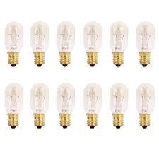 pack of 12 15 watts tubular bulbs for himalayan salt ls light