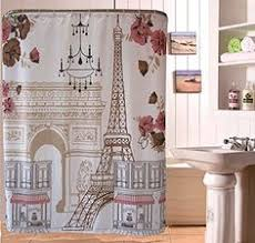 uphome vintage paris themed light brown eiffel tower bathroom