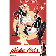 amazon com fallout 4 gaming poster print nuka cola girl