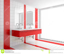 Modern Bathroom Rugs And Towels by Bathroom Pretty Modern Bathroom Red And White Tiles Stock