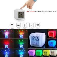 großhandel 7 farben led änderungs digital glühend wecker nachtlicht für schlafzimmer digital wecker elektronische geräte hongheyu 20 02