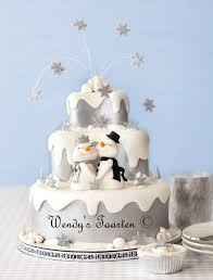 A Winter Wonderland Wedding Cake On Central
