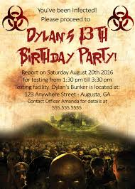 Free Halloween Potluck Invitation by Zombie Apocalypse Dead Walk Again Birthday Party Invitation