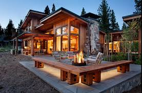 The Mountain View House Plans by Exterior Mountain View From House Plan With Outdoor Living Room