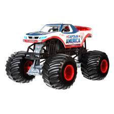Hot Wheels Monster Jam 1:24 Captain America Die-Cast Vehicle ...