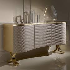 Stylish Designer Italian Quilted Leather Sideboard Buffet Juliettes Sideboards And Buffets