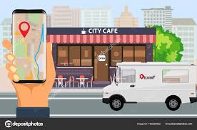 100 Food Delivery Truck Online Order And Fast Food Delivery With Food Truck And City