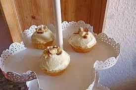 bananen cupcakes mit frischkäse topping