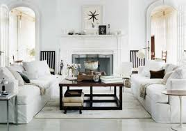 Rustic Living Room Wall Ideas by Rustic Living Room Design With All White Interior Color Decor Plus