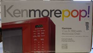 Kenmore Red 11 Cu Ft 1100 Watts Countertop Microwave Oven NEW