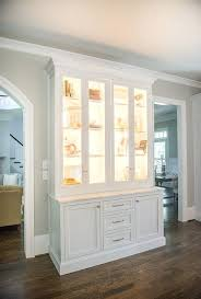 Kitchen Cabinet Displays Fascinating Built In Wall Display Case Mounted Plans White Shelves