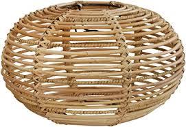 lenschirm retro aus echtem rattan für e 27 fassungen gestäbter design schirm für deckenlen deckenleuchten hängelen rund ø40cm