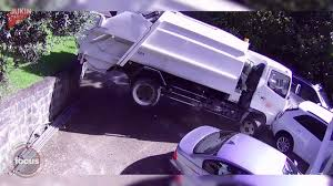 100 Garbage Truck Movies Dramatic Video Footage Runaway Rubbish Truck Writes Off Two