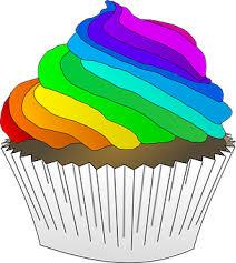 Chocolate Cupcake Dessert Frosting Rainbow