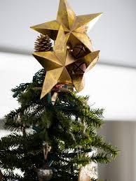 Cute Clustered Golden Cardboard Stars Tree Topper