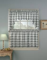 Kitchen Curtain Ideas 2017 by Incredible Grey And White Kitchen Curtains Also Ideas Gingham