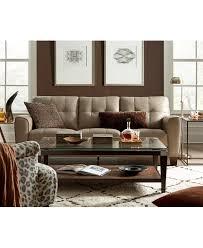 kaleb tufted leather sofa created for macy s tufted leather