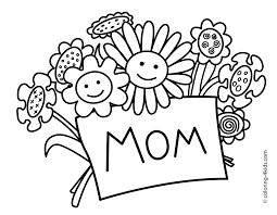 Mothers Day Coloring Pages For Kids Printable Free