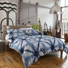 Blue Tie Dye Bedding by Creek Pier Duvet Cover Set Blue And Natural
