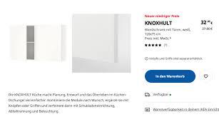 ikea knoxhult wandschrank mit türen weiß 120x75 cm