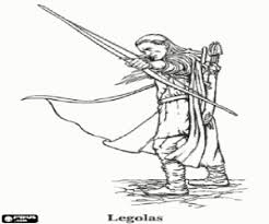 Legolas The Lord Of Rings Pippin Hobbit Frodos Friend Coloring Page