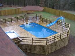 Concrete Intex Above Ground Landscaping Pdf Backyard With Pallet Pool Deck Ideas